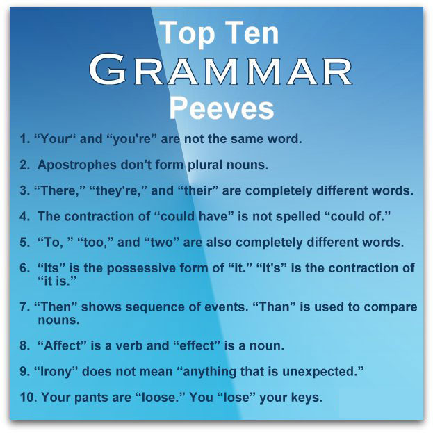 top ten grammar peeves ninja creative common grammar mistakes